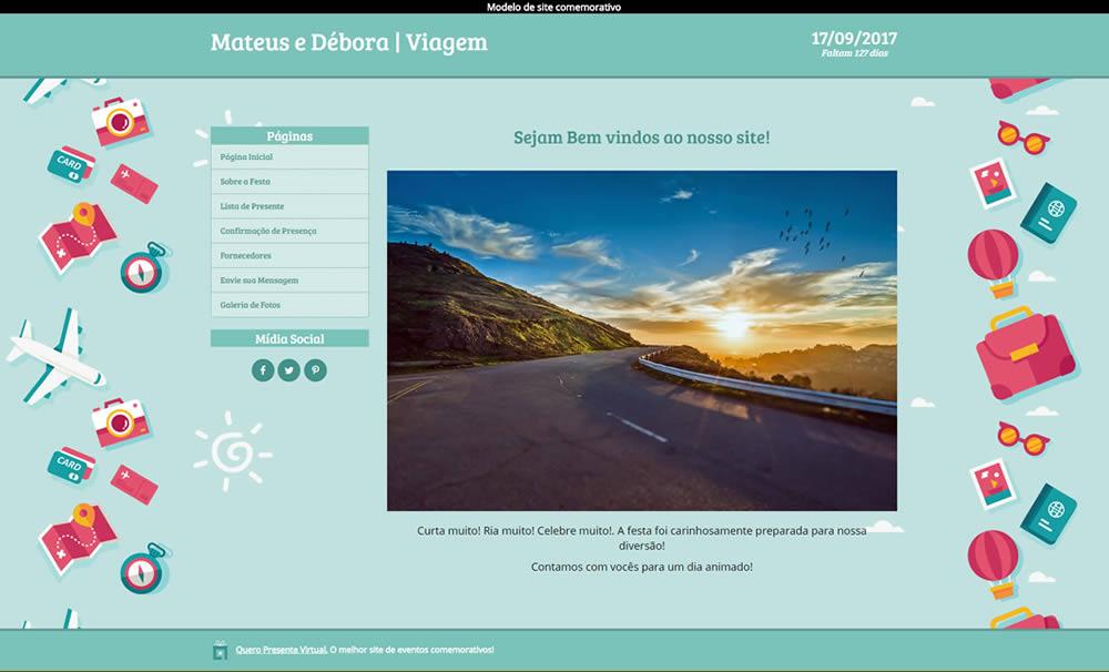 Layout Premium Quero Presente Virtual