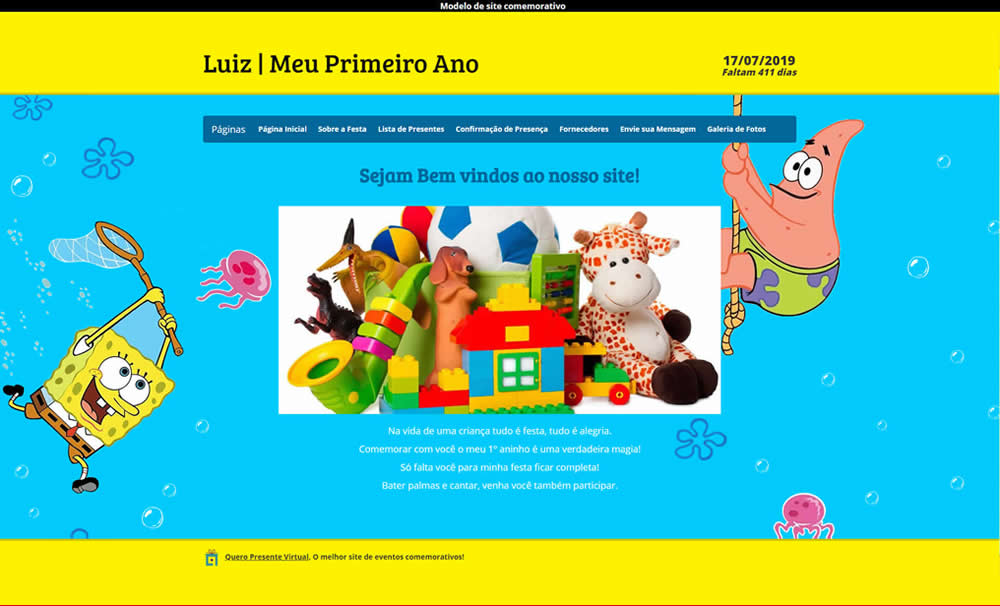 Layout Premium Quero Presente Virtual